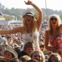 Fans cheer as Paolo Nutini performs at the Glastonbury Festival 2009.